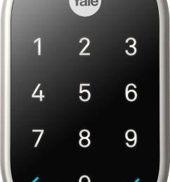 nest x yale smart lock with nest connect satin nickel rb yrd540 wv 619 best buy [ 878 x 1586 Pixel ]