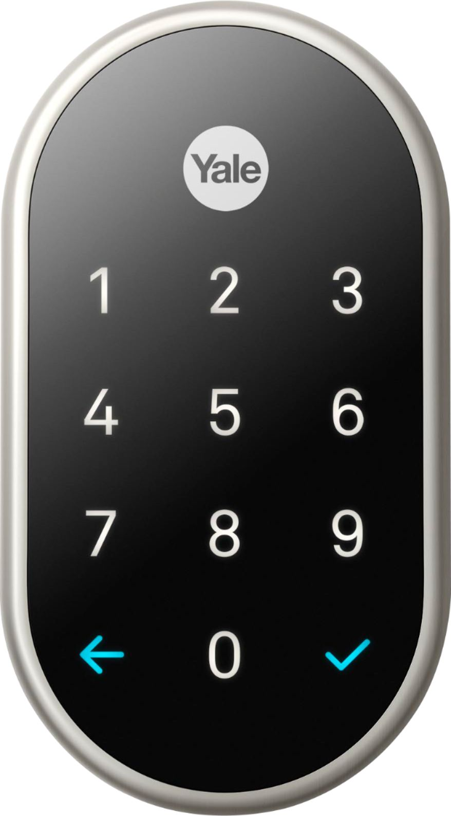 medium resolution of nest x yale smart lock with nest connect satin nickel rb yrd540 wv 619 best buy