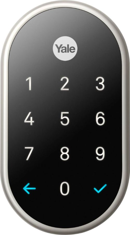 small resolution of nest x yale smart lock with nest connect satin nickel rb yrd540 wv 619 best buy