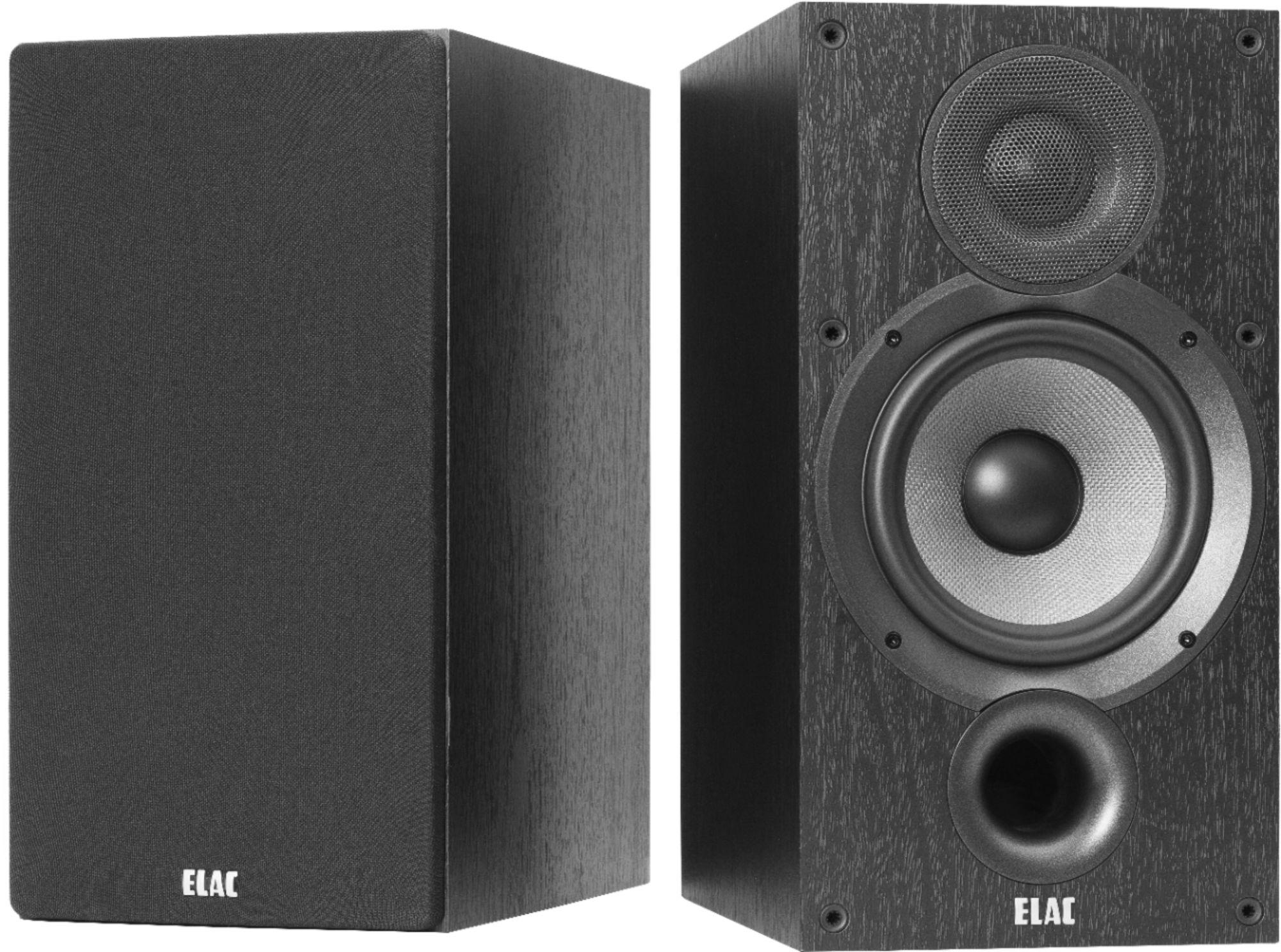 hight resolution of elac debut 2 0 6 5 2 way bookshelf speakers pair black ash db62 bk best buy