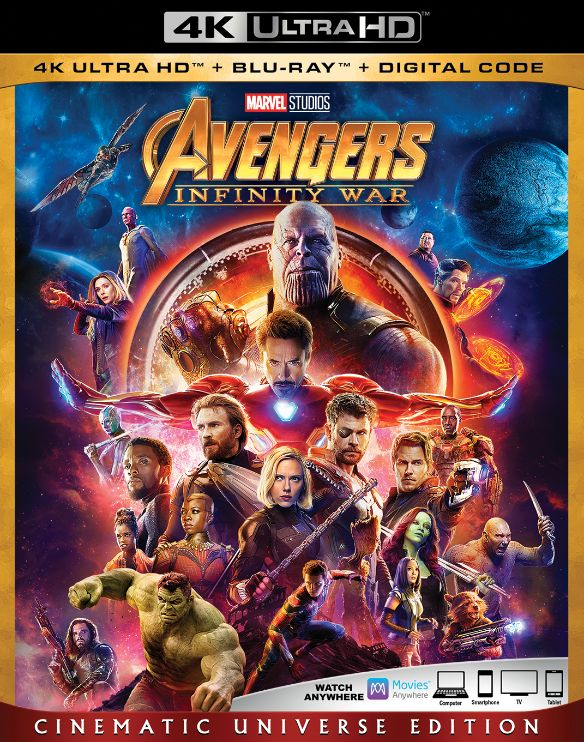 Avengers Infinity War Includes Digital Copy 4k Ultra Hd Blu Ray