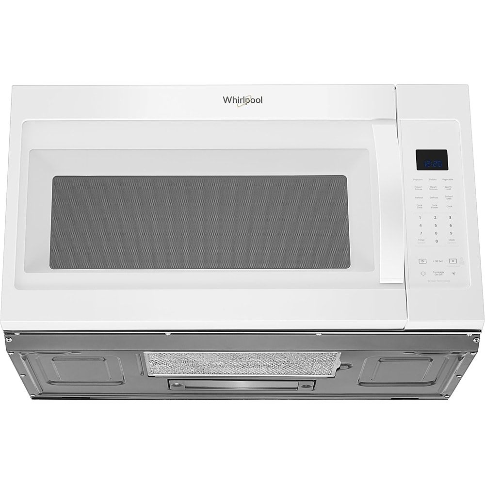 whirlpool 1 9 cu ft over the range microwave white
