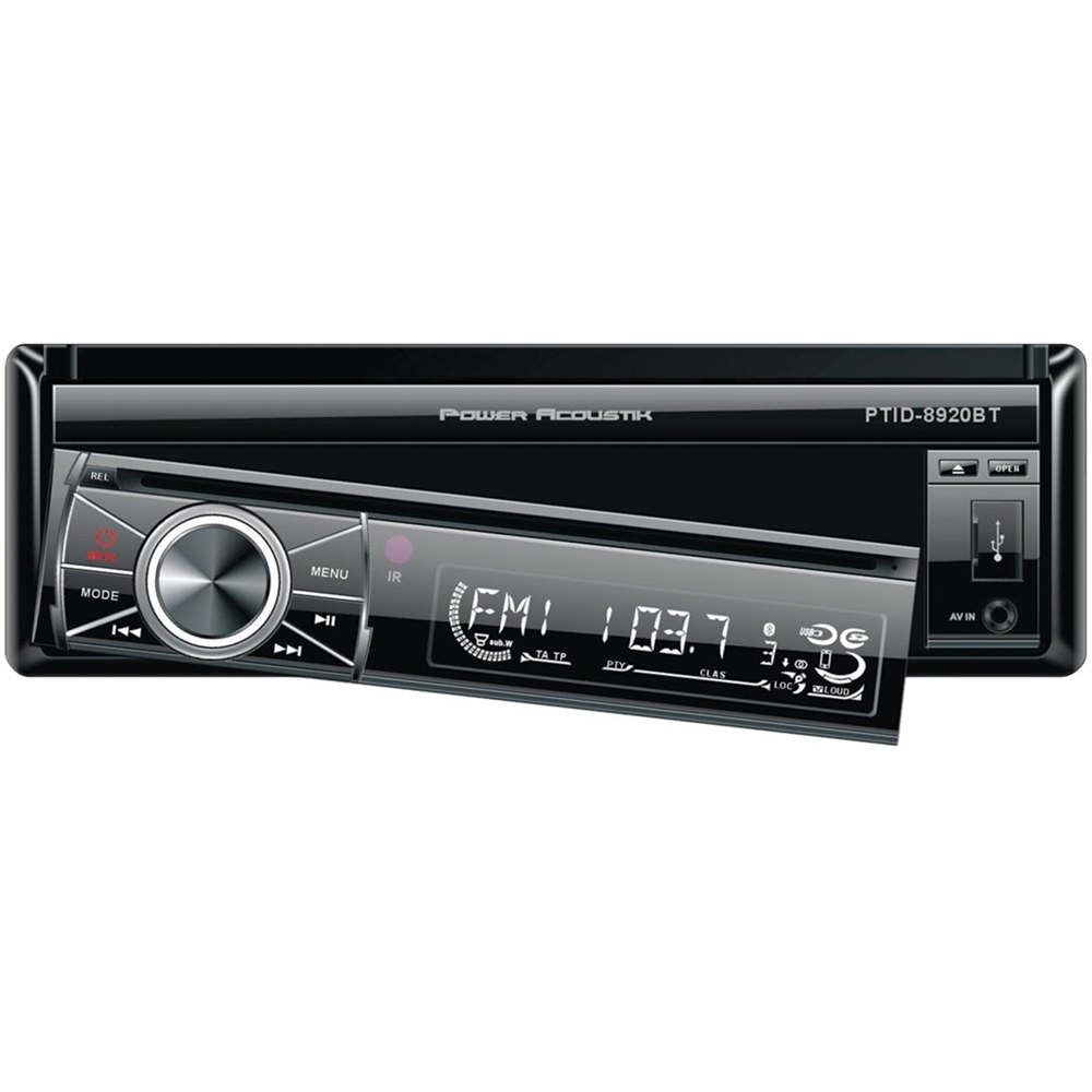 hight resolution of power acoustik in dash cd dvd dm receiver built in bluetooth with detachable faceplate black kitpowhusp26 best buy
