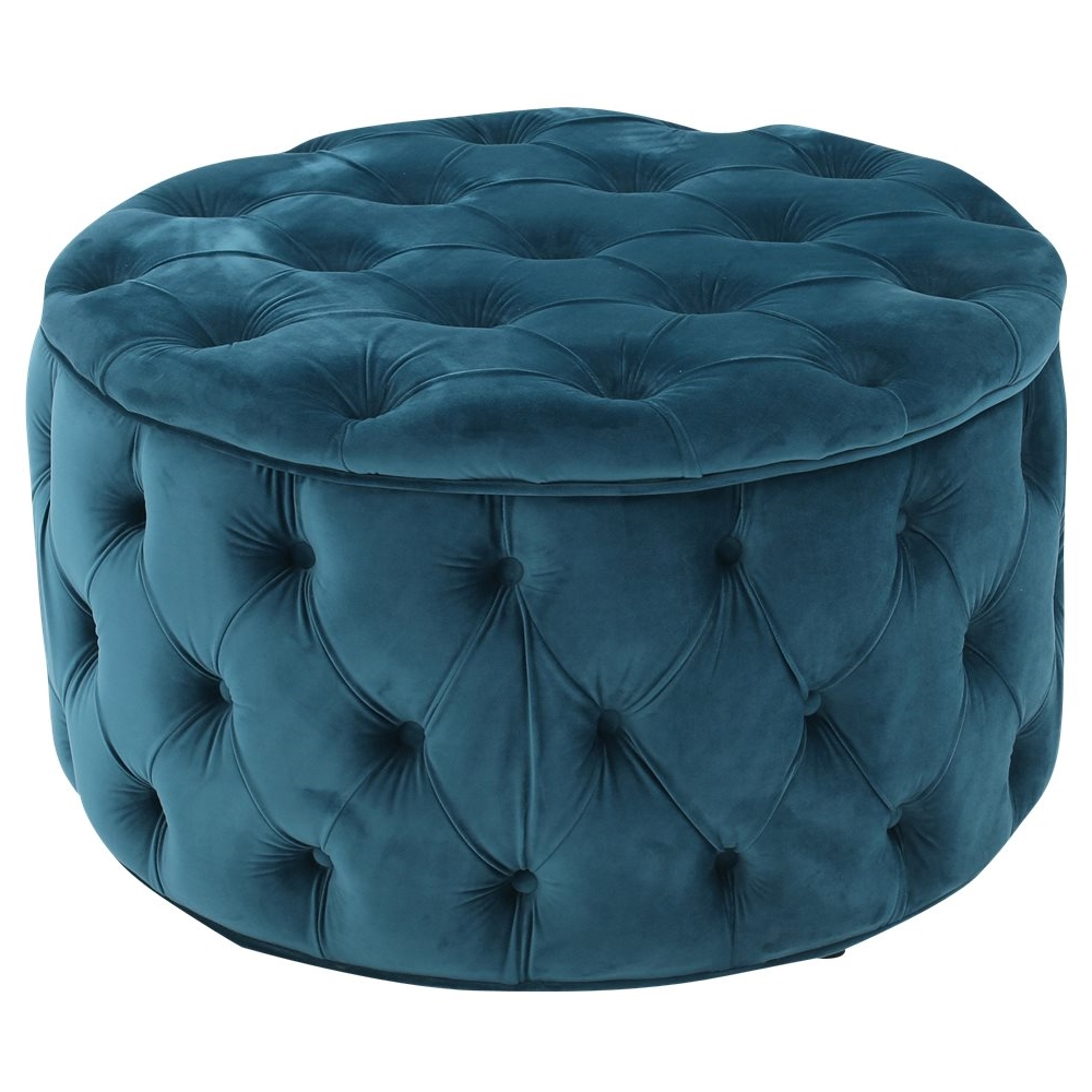 noble house colebrook tufted ottoman dark teal