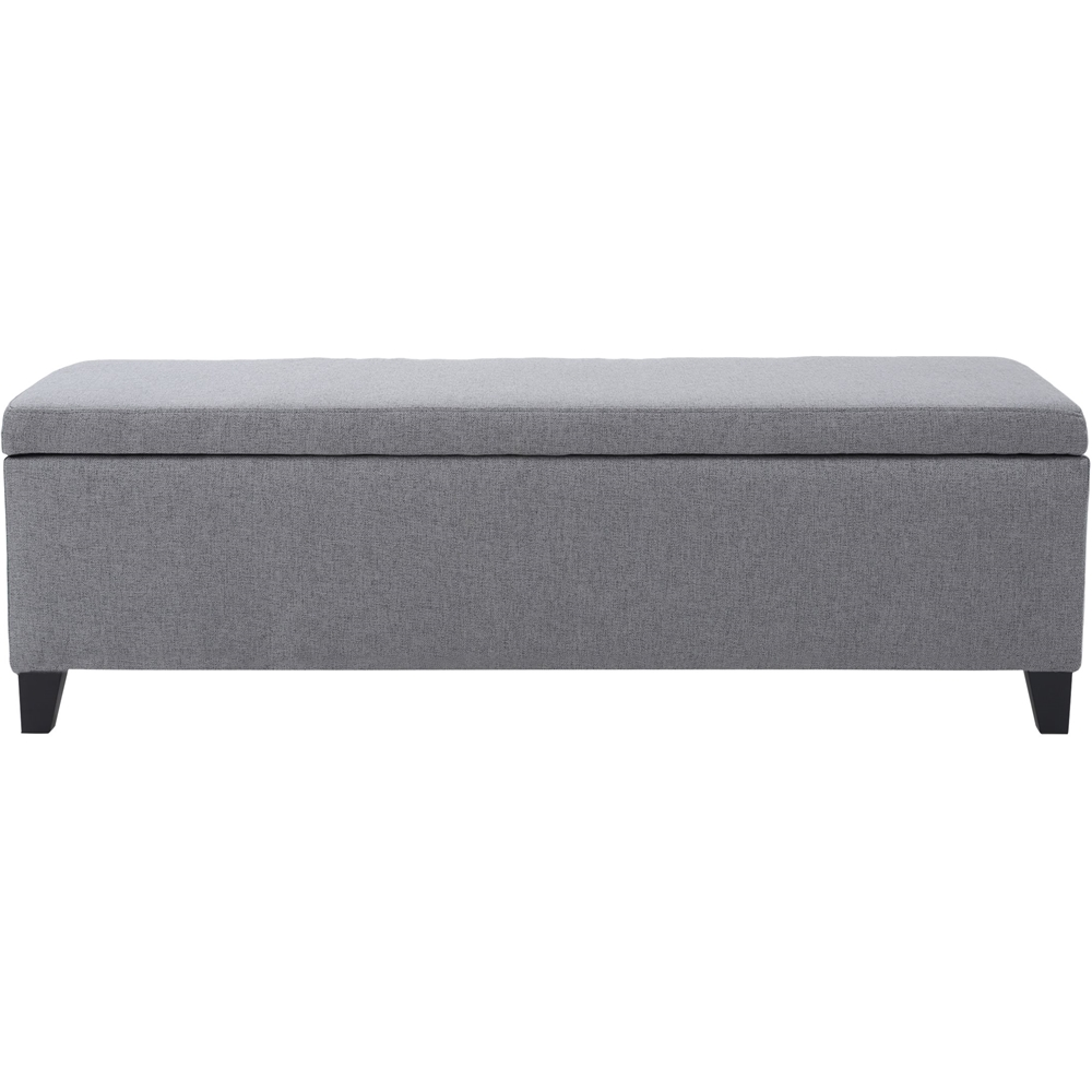 large gray storage ottoman best buy