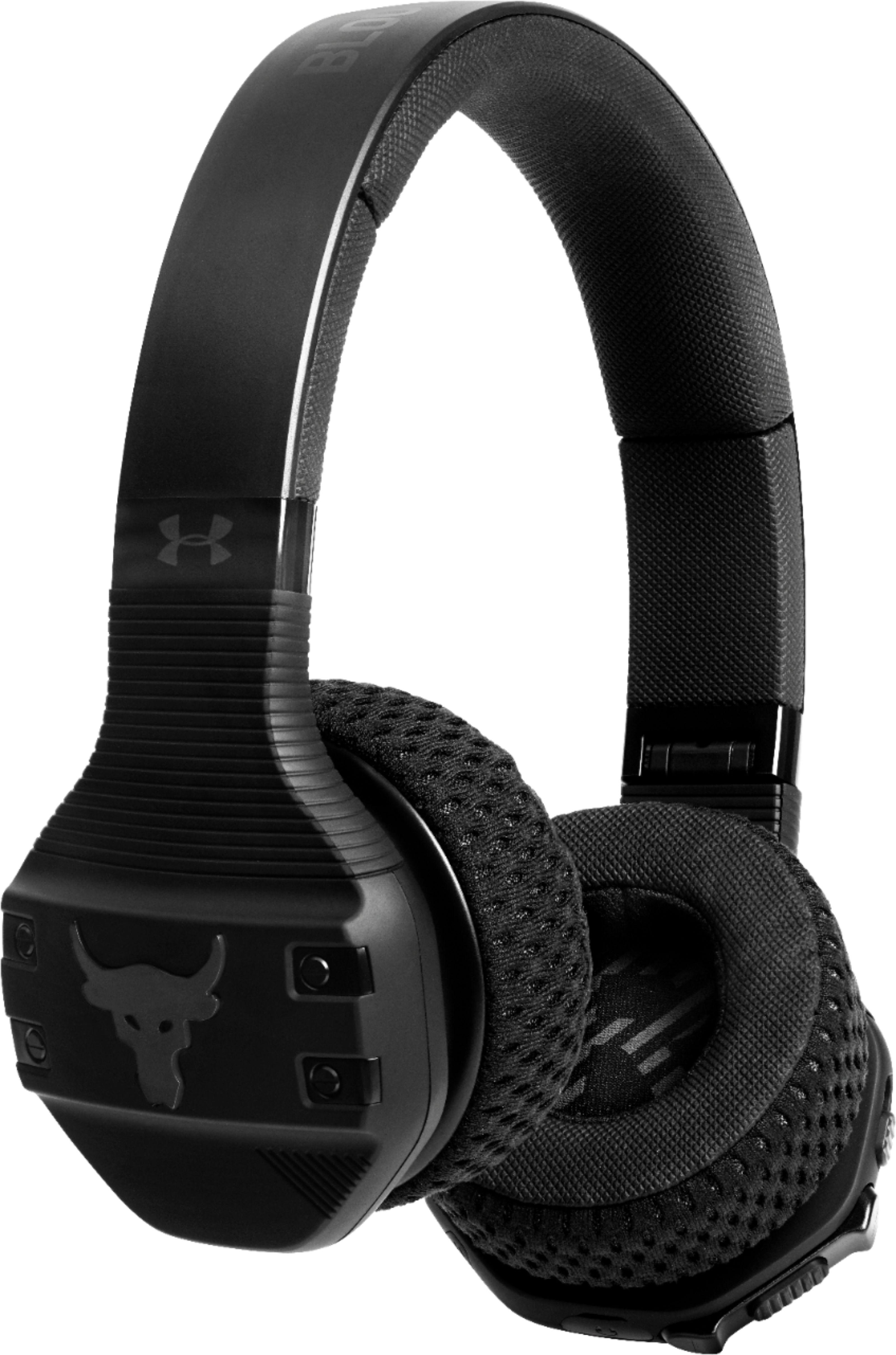 Best Buy Under Armour Sport Wireless Train OnEar Headphones Project Rock Edition Black
