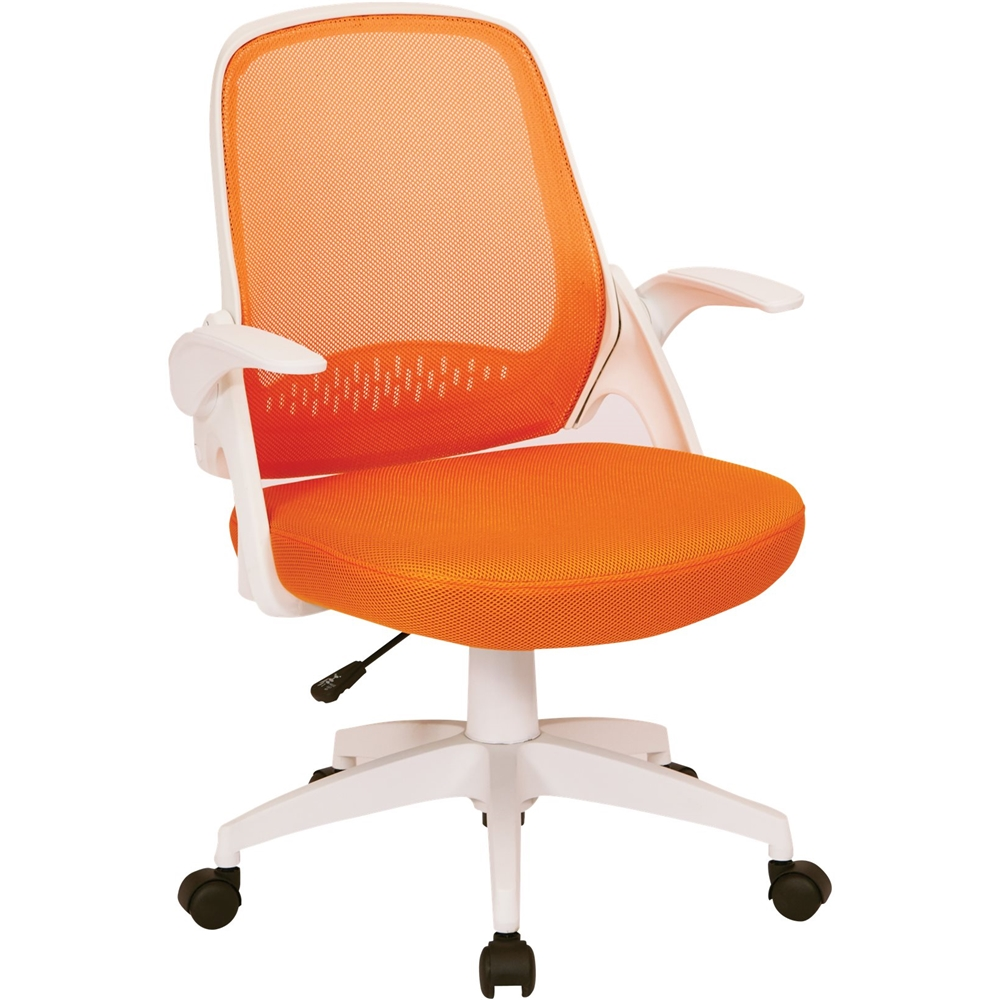 mesh task chair step 2 avesix jackson home office fabric and orange jkn26 front zoom
