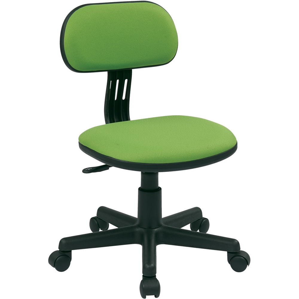 desk chair best buy adjustable office chairs small task osp designs 499 series student home fabric green