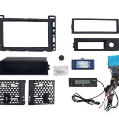 pac integrated radio replacement kit for select chevrolet malibu and pontiac g6 vehicles black rpk4 gm2301 best buy [ 1000 x 1000 Pixel ]