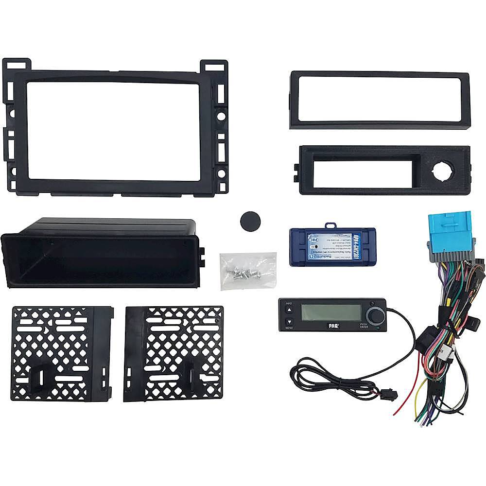 hight resolution of pac integrated radio replacement kit for select chevrolet malibu and pontiac g6 vehicles black rpk4 gm2301 best buy
