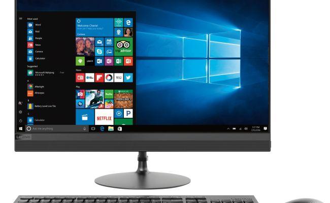 Lenovo 520 24arr 23 8 Touch Screen All In One Amd Ryzen 3
