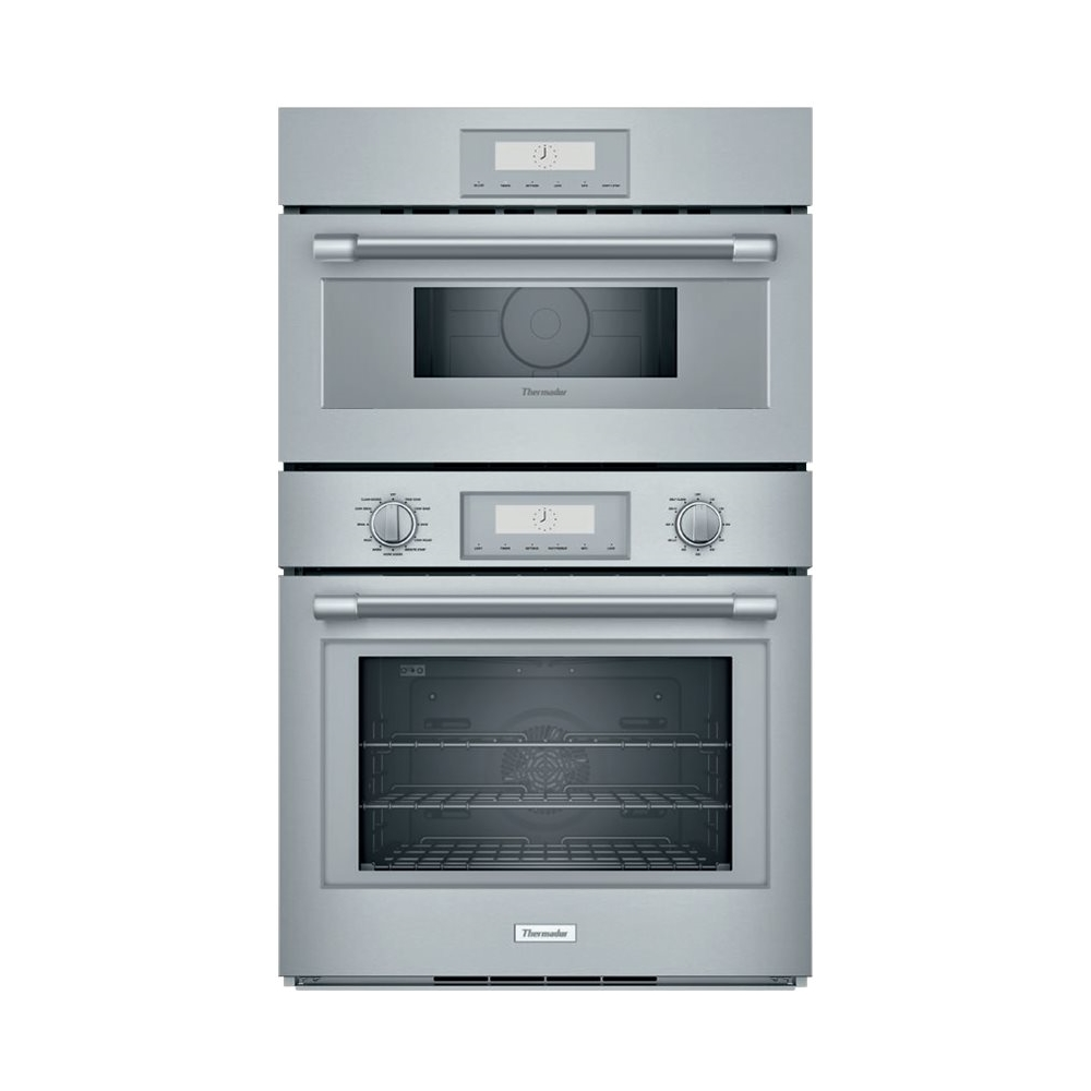 thermador professional series 29 7 double electric convection wall oven with built in microwave stainless steel