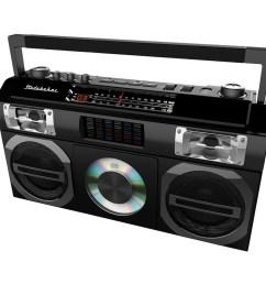 studebaker master blaster cd rw cd r cd da boombox with am fm radio black sb2149b best buy [ 1000 x 1000 Pixel ]