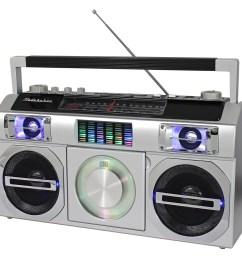 studebaker master blaster cd rw cd r cd da boombox with am fm radio silver sb2149s best buy [ 1000 x 1000 Pixel ]