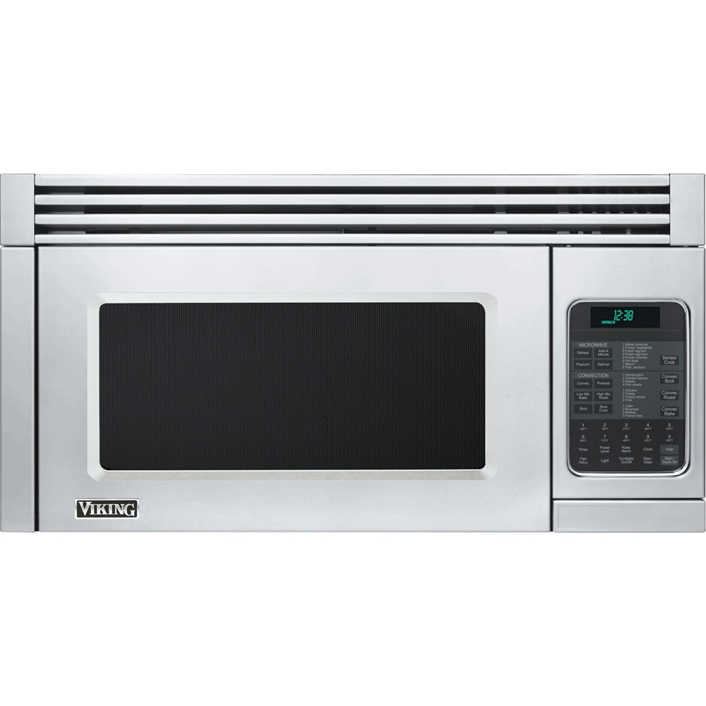 viking 5 series 1 1 cu ft convection over the range microwave with sensor cooking stainless steel