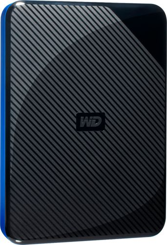 WD - 2TB Game Drive for PS4 External USB 3.0 Portable Hard Drive - Black/Blue