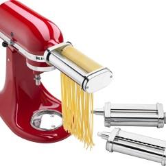Kitchen Aid Pasta Design Software Mac Kitchenaid Cutter And Fresh Prep Attachment Bundle White Metal Front Zoom