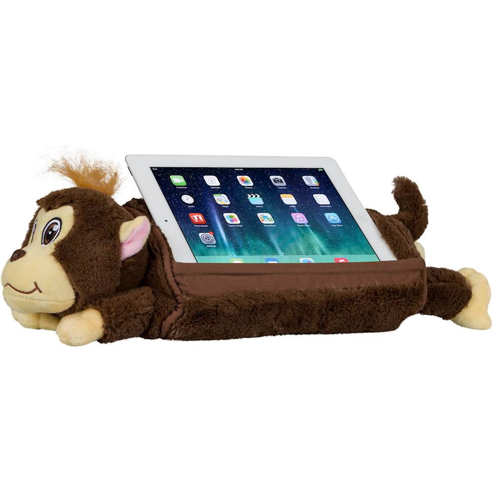 lapgear lap pets monkey tablet pillow stand for most tablets up to 10 1 brown