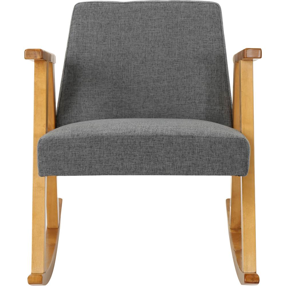small rocking chairs british colonial chair best buy noble house edgewood gray light walnut