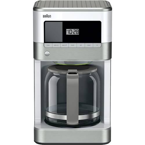 braun kitchen appliances cheap white cabinets best buy brewsense 12 cup coffee maker stainless steel front standard
