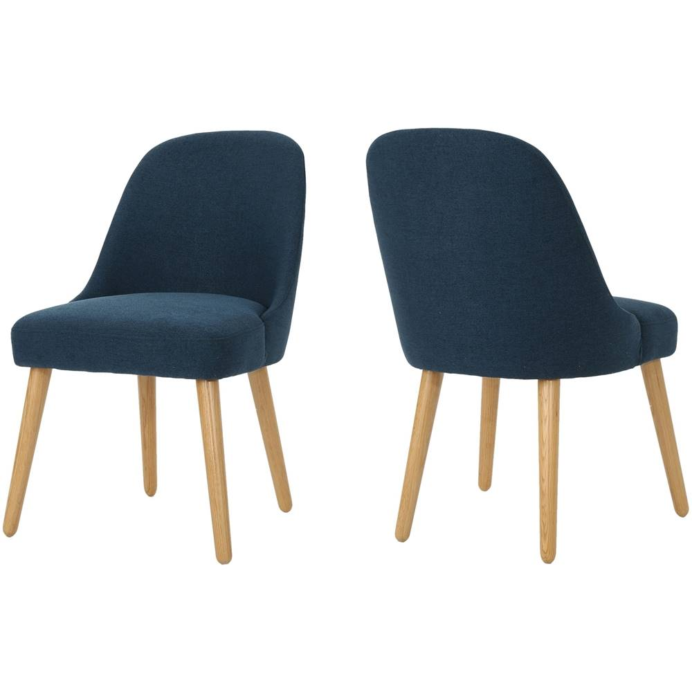 navy blue dining chairs set of 2 swing chair amart noble house seaford fabric 302119