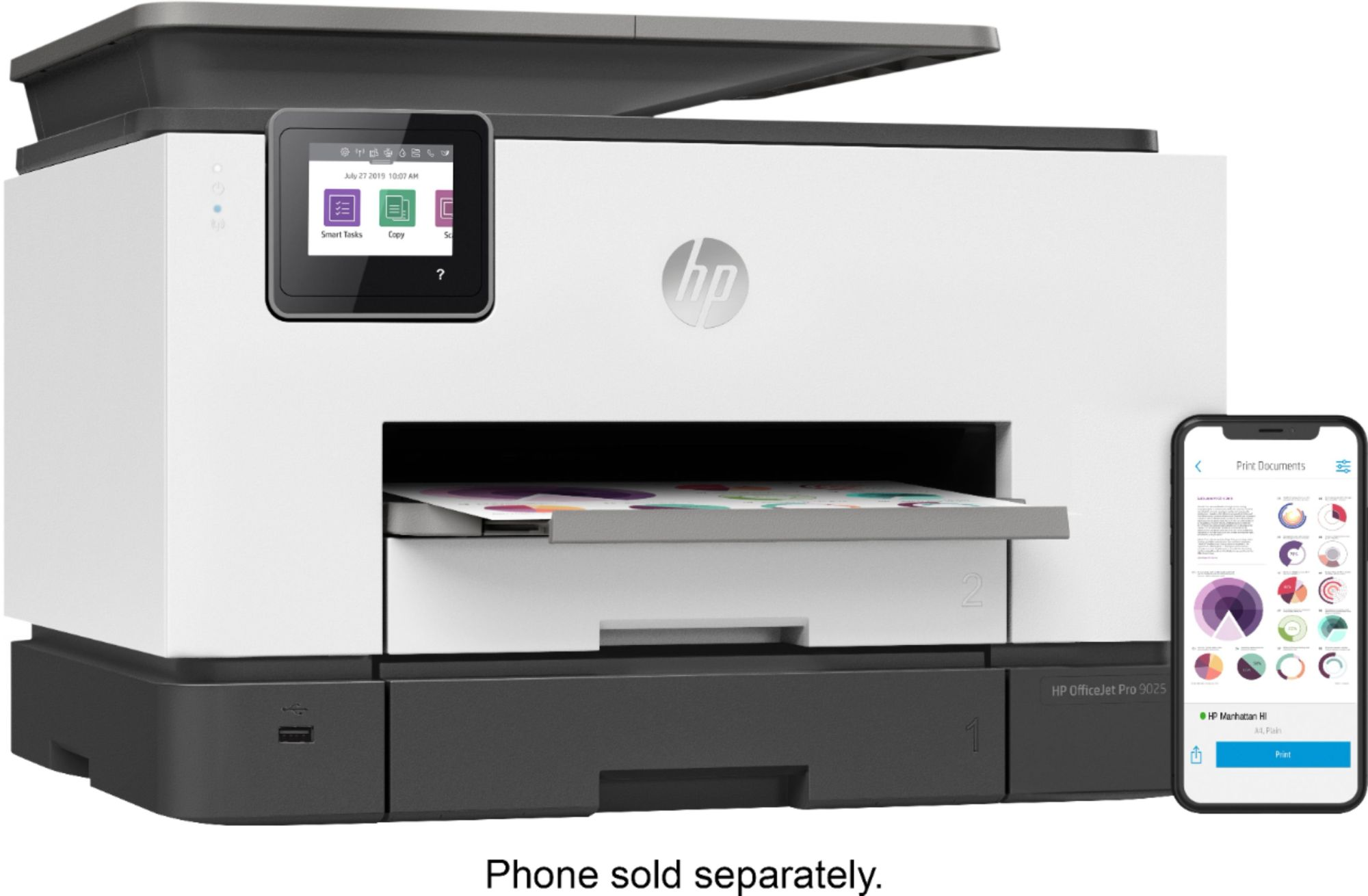 hight resolution of hp officejet pro 9025 all in one instant ink ready printer 1mr66a b1h best buy