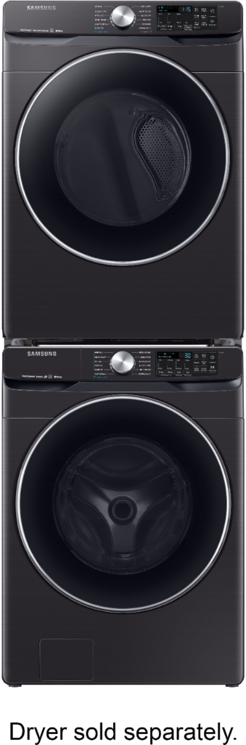 Samsung 4 5 Cu Ft 12 Cycle Front Loading Smart Wi Fi Washer With Steam Black Stainless Steel Wf45r6300av Us Best Buy