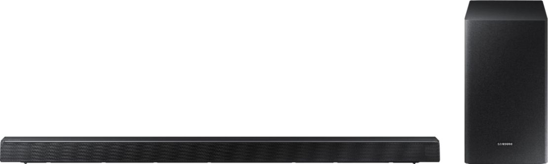 "Samsung - 3.1-Channel 340W Soundbar System with 6-1/2"" Wireless Subwoofer - Charcoal Black"