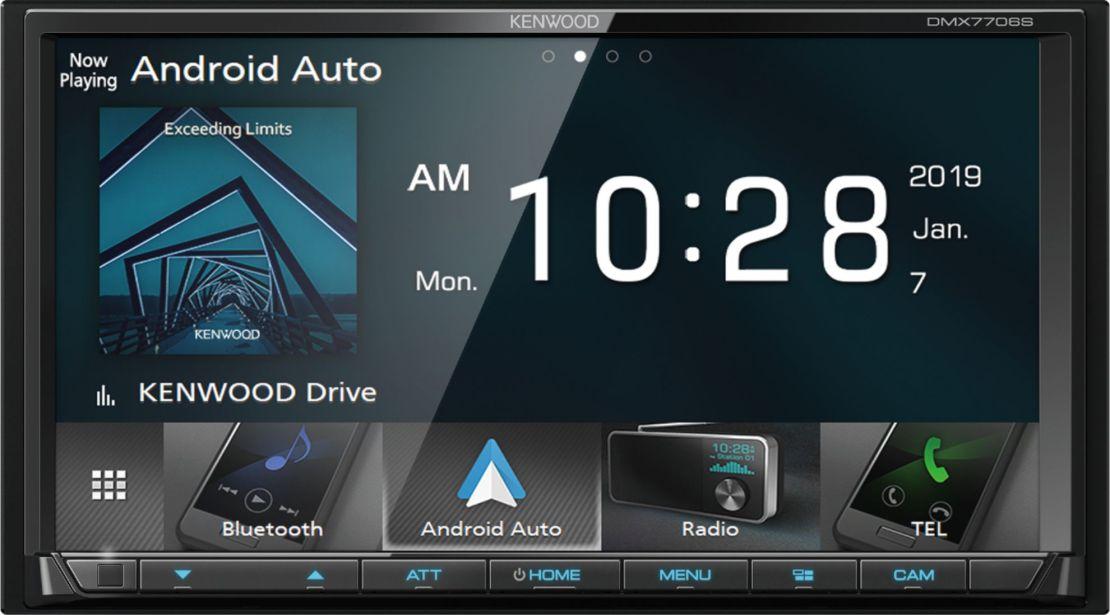 "Kenwood - 7"" - Android Auto/Apple® CarPlay™ - Built-in Bluetooth - In-Dash Digital Media Receiver - Black"