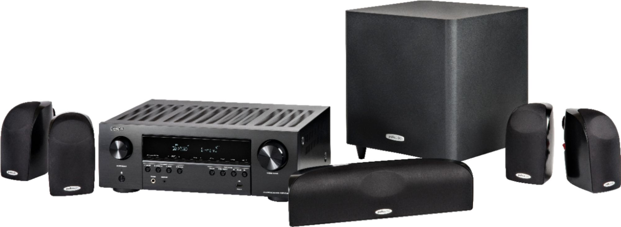 hight resolution of polk audio blackstone tl1600 and denon avr s540bt home theater package 5 1 ch home theater speaker system black tl1600 avrs540bt system best buy