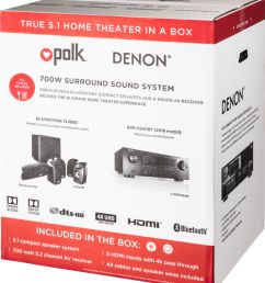 polk audio blackstone tl1600 and denon avr s540bt home theater package 5 1 ch home theater speaker system black tl1600 avrs540bt system best buy [ 4002 x 4526 Pixel ]