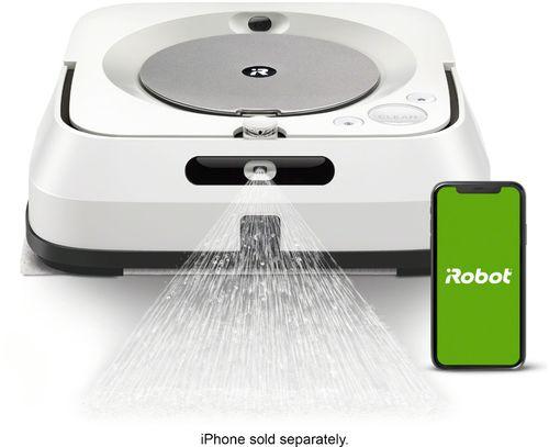 iRobot - Braava jet m6 Wi-Fi Connected Robot Mop - White