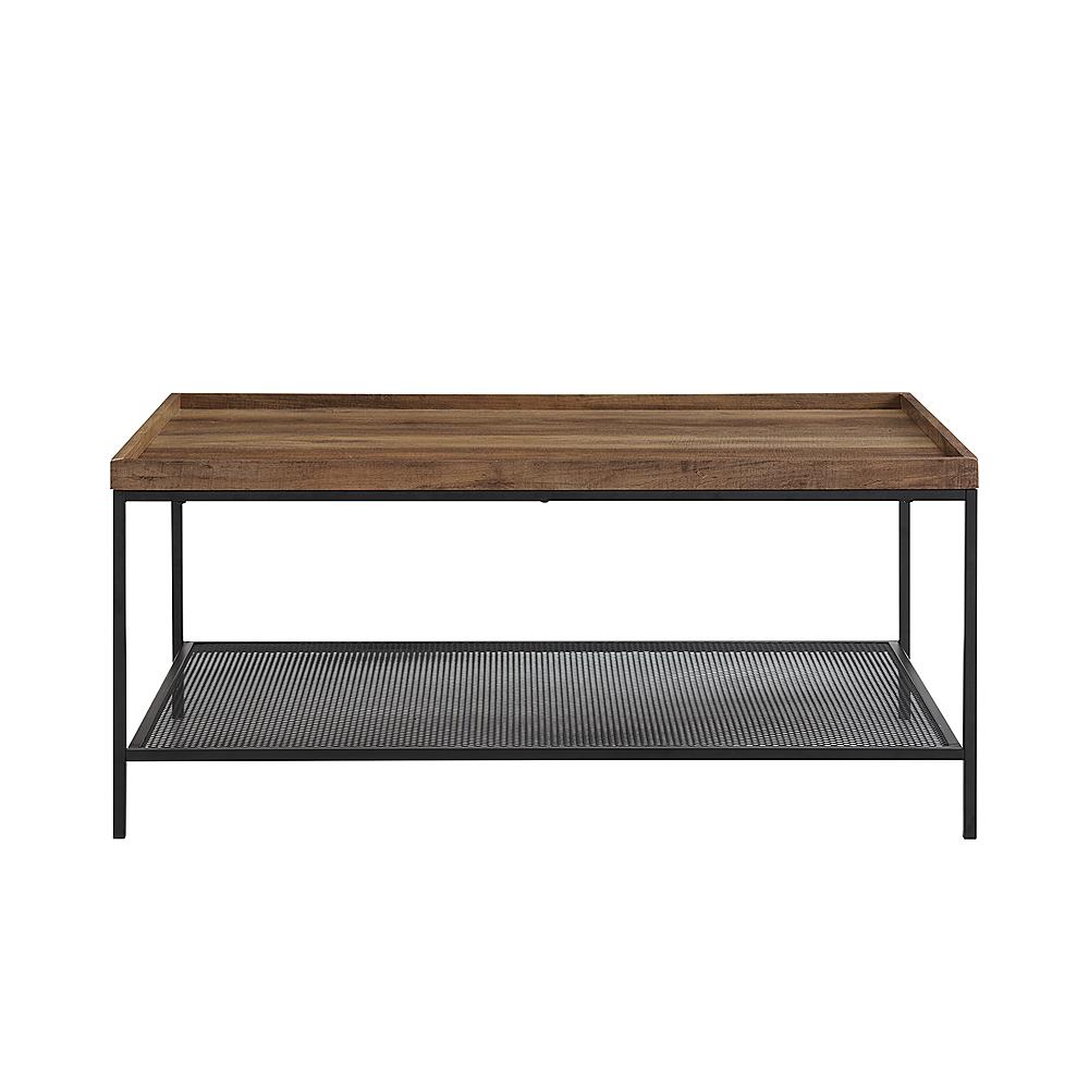 walker edison modern tray top rectangular coffee table black rustic oak