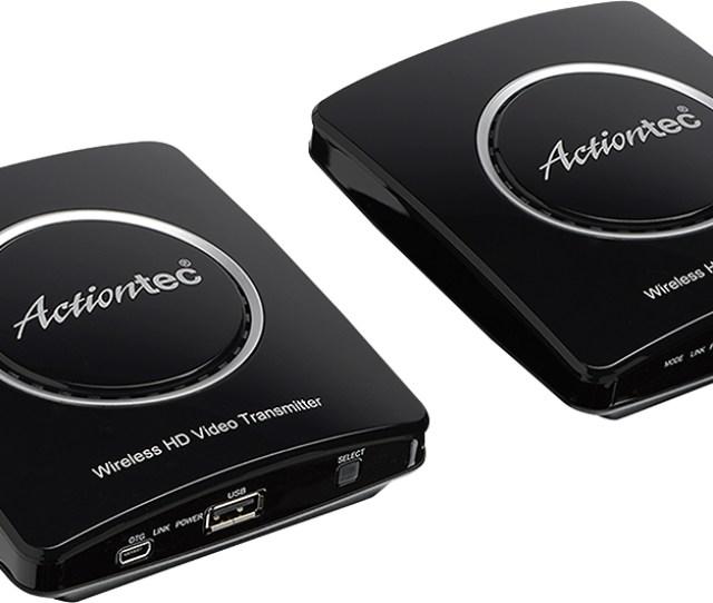 Actiontec Mywirelesstv2 Wireless Video Transmitter And Receiver Black Mwtv2kit01 Best Buy