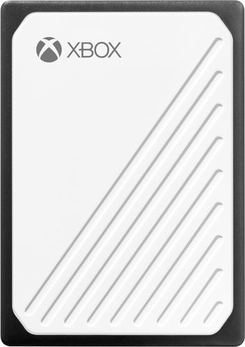 WD - Gaming Drive Accelerated for Xbox One 1TB External USB 3.0 Portable Solid State Drive - White With Black Trim