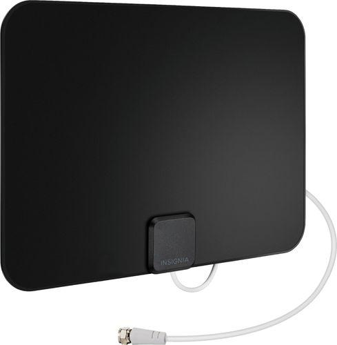 Insignia™ - Ultra-Thin Indoor Plate HDTV Antenna - Black/White