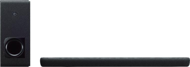 """Yamaha - 2.1-Channel 200W Soundbar System with 6-1/2"""" Wireless Subwoofer with Alexa - Black"""