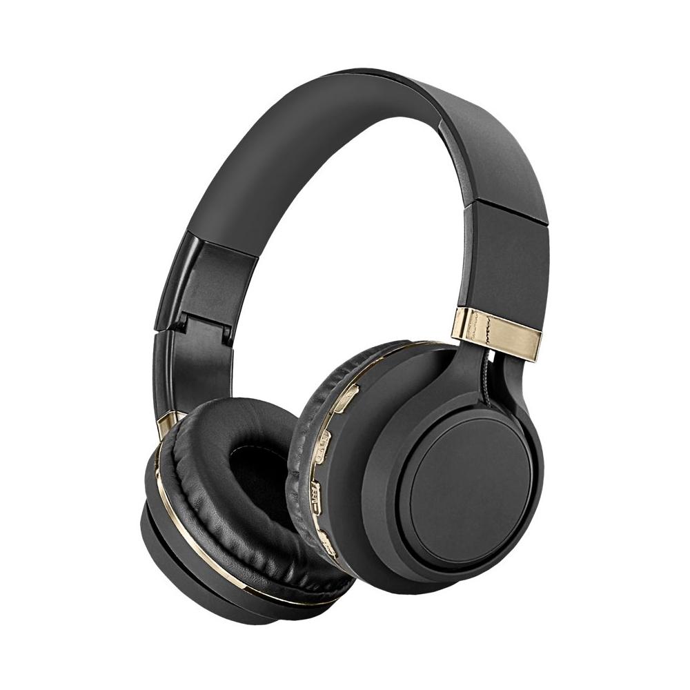 sentry deluxe bt300 wireless on ear headphones black