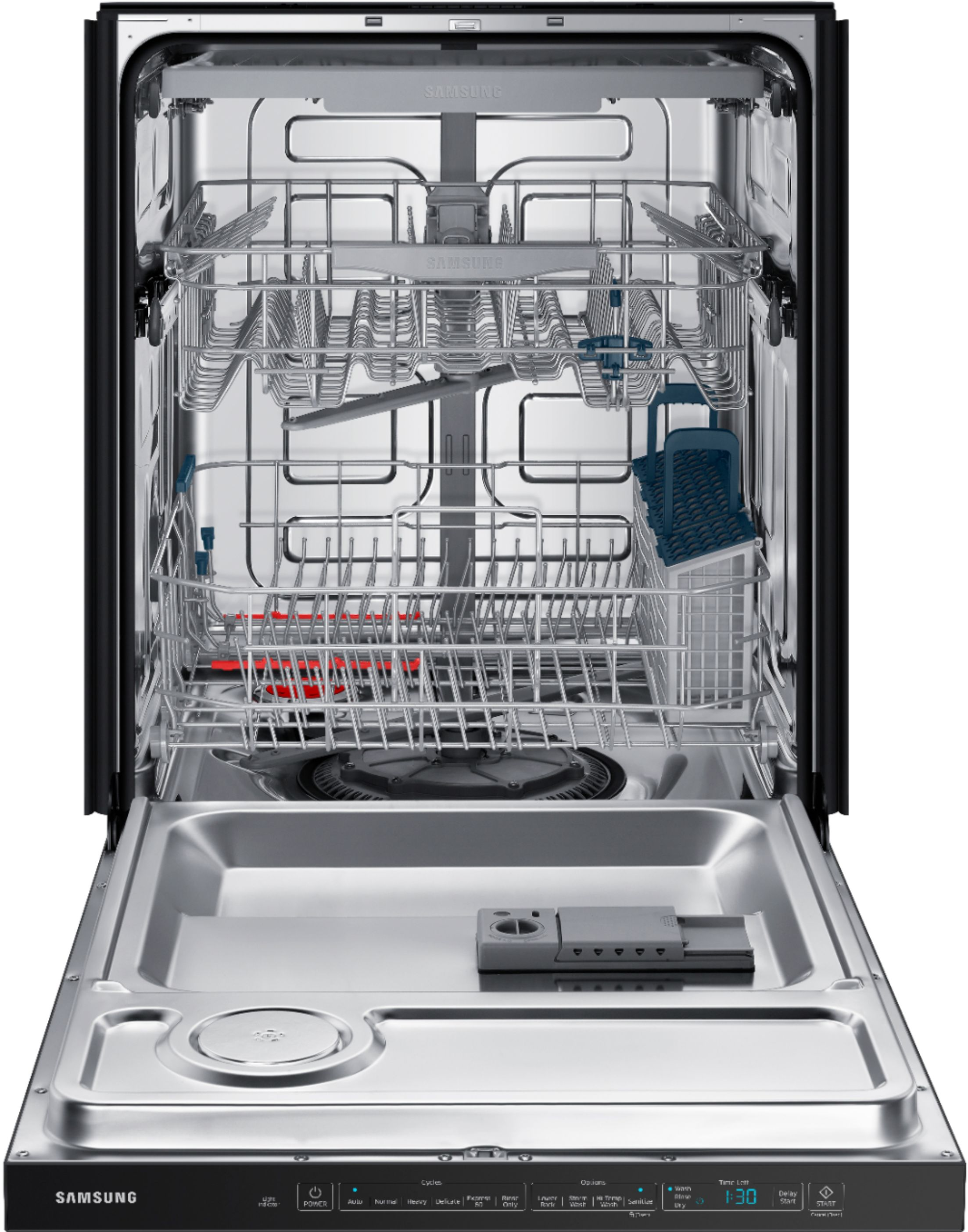 Samsung Dishwasher Kick Plate : samsung, dishwasher, plate, Questions, Answers:, Samsung, StormWash™, Control, Built-In, Dishwasher, AutoRelease, Rack,, Black, Stainless, Steel, DW80R5060UG