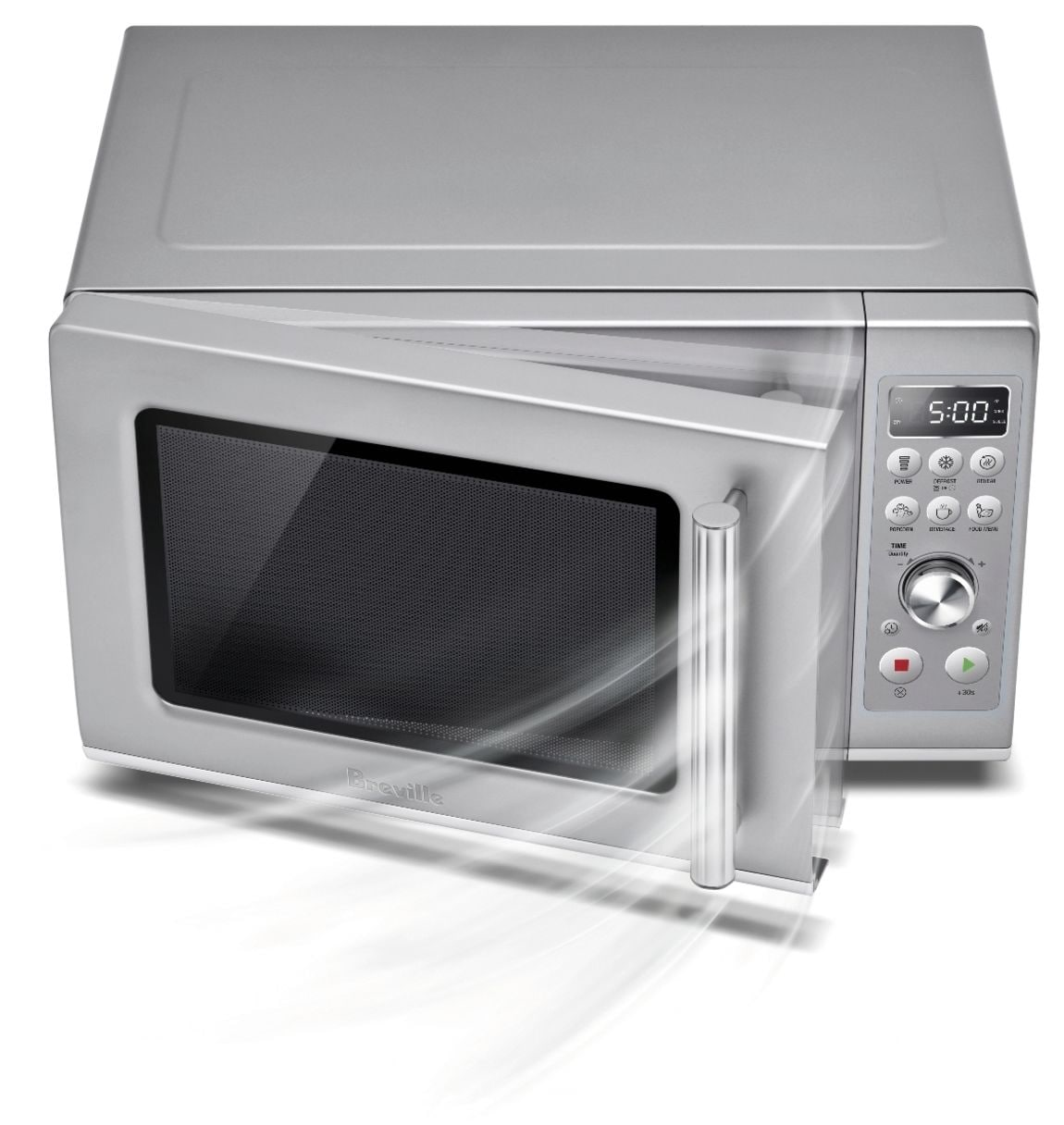 breville the compact wave soft close 0 9 cu ft microwave brushed stainless steel