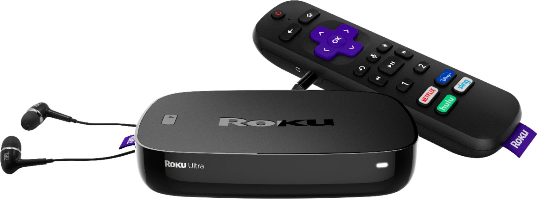 Roku Ultra 4K Streaming Media Player with JBL Headphones