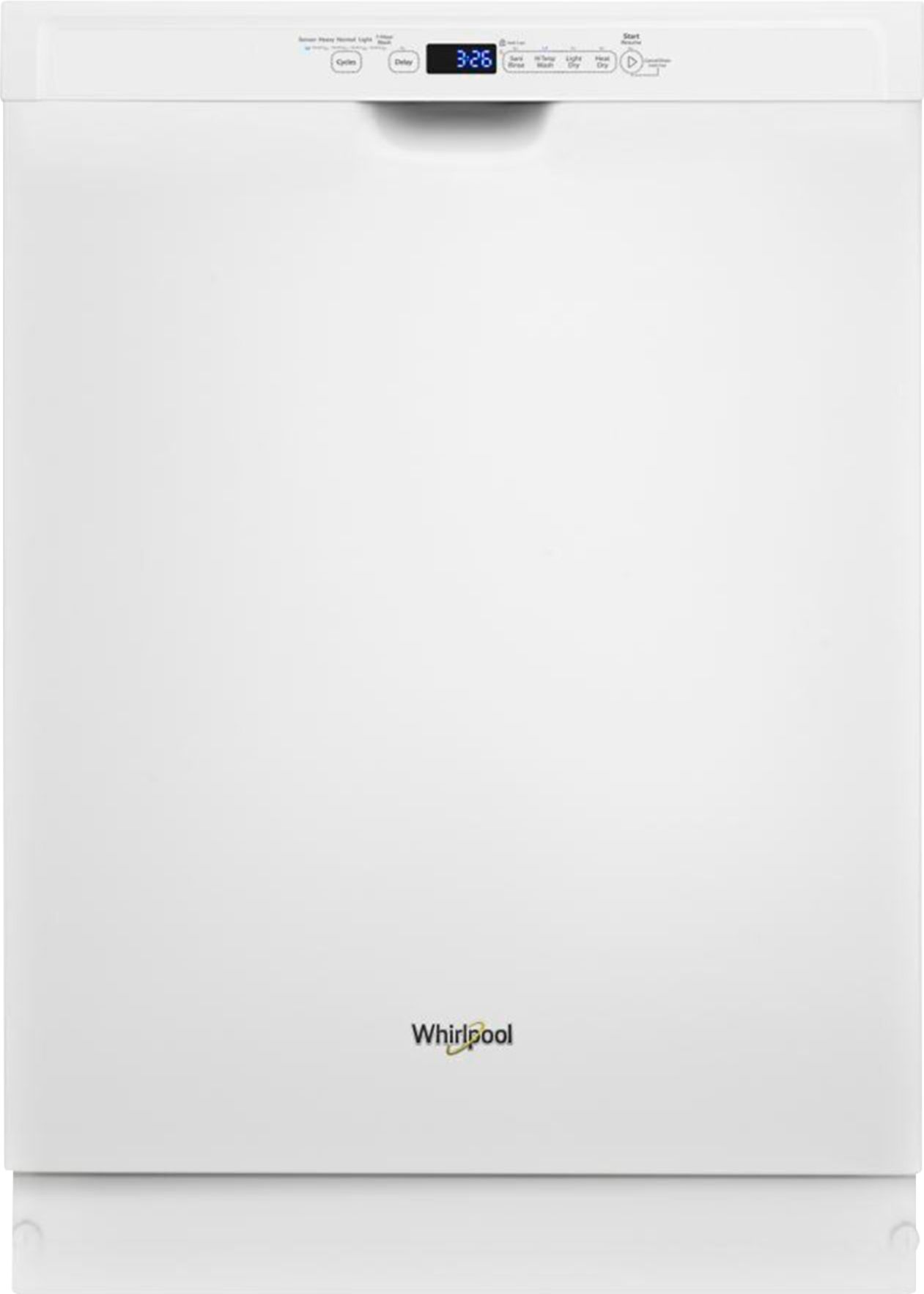 whirlpool front control built in dishwasher with stainless steel tub 3rd rack 50 dba white