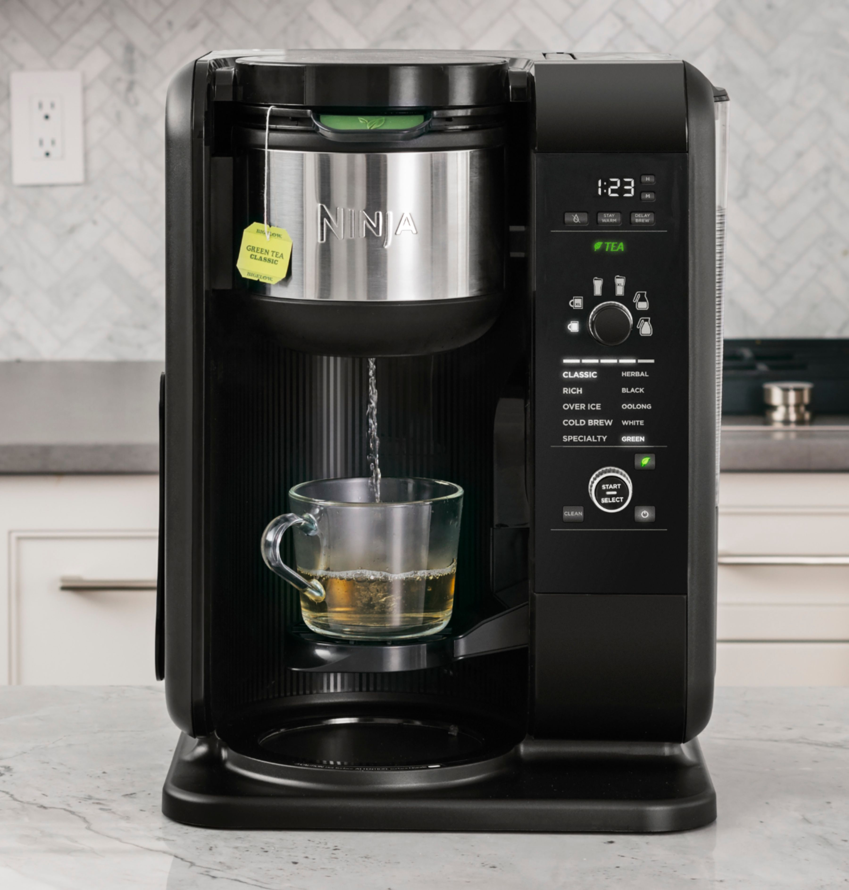 Ninja Hot & Cold Brew 10-Cup Coffee Maker Black/Stainless ...