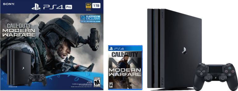 Sony - PlayStation 4 Pro 1TB Call of Duty: Modern Warfare Console Bundle - Jet Black