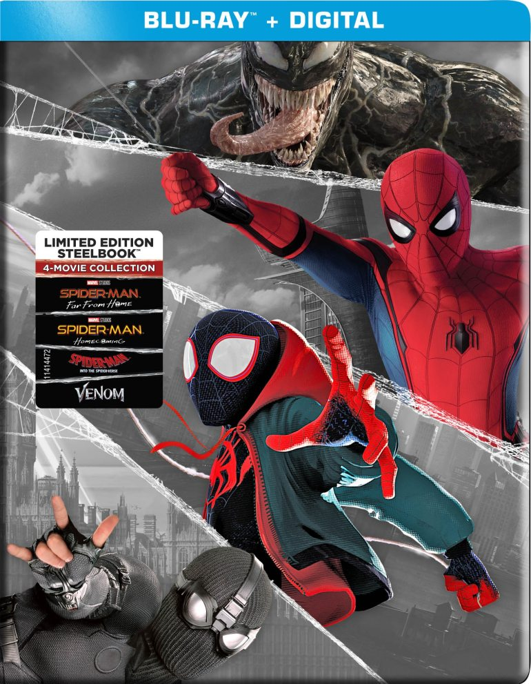 Spider-Man: 4-Movie Collection [SteelBook] [Includes Digital Copy] [Blu-ray]