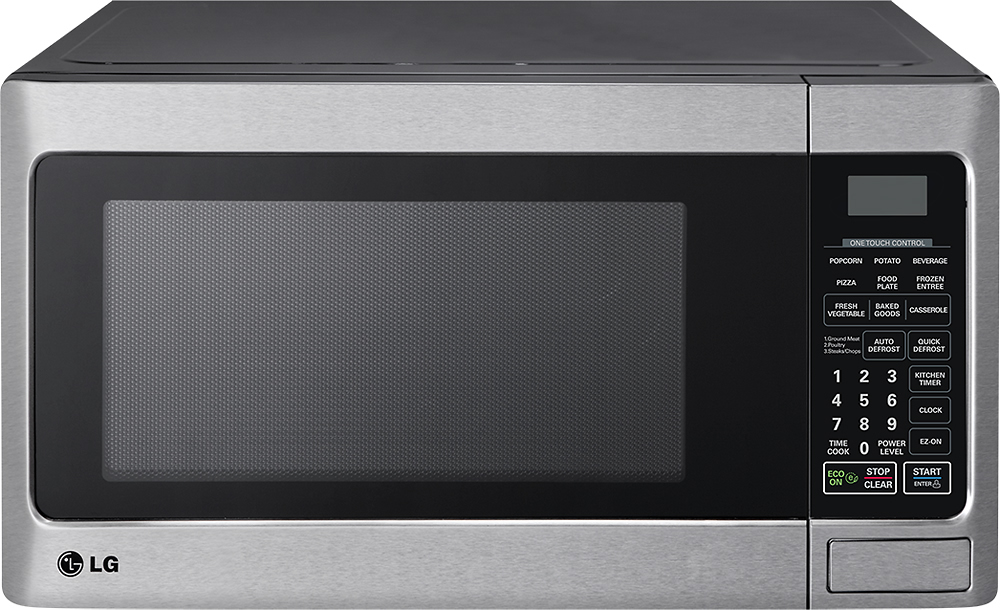 lg 1 1 cu ft mid size microwave stainless steel