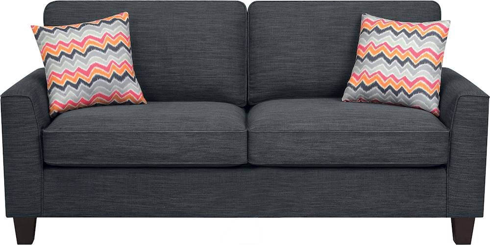 serta astoria 3 seat fabric sofa charcoal