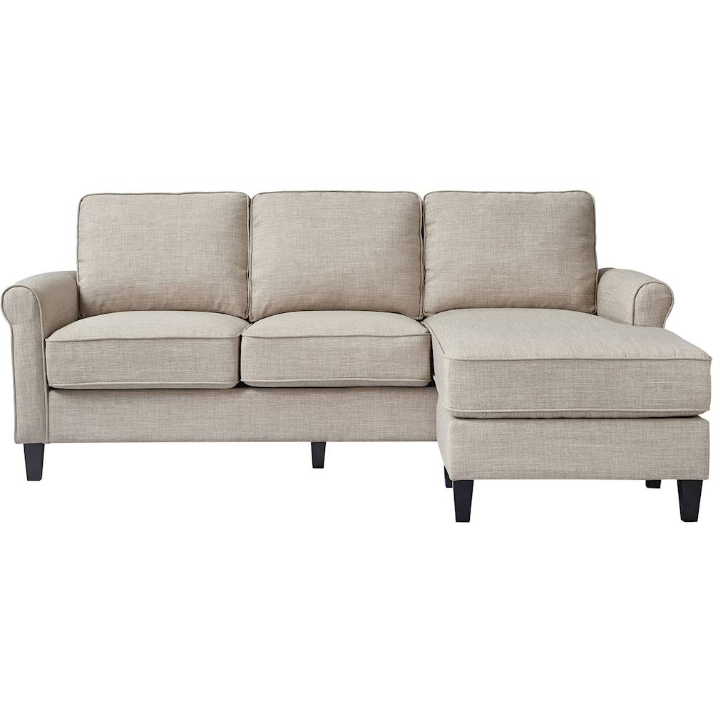 serta harmon l shaped fabric 2 piece sectional sofa light gray