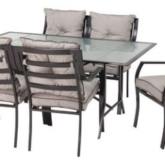 Best Outdoor Dining Chairs Gaming With Speakers Hanover Lavallette Set 7 Piece Gray Lavallette7pc Front Standard