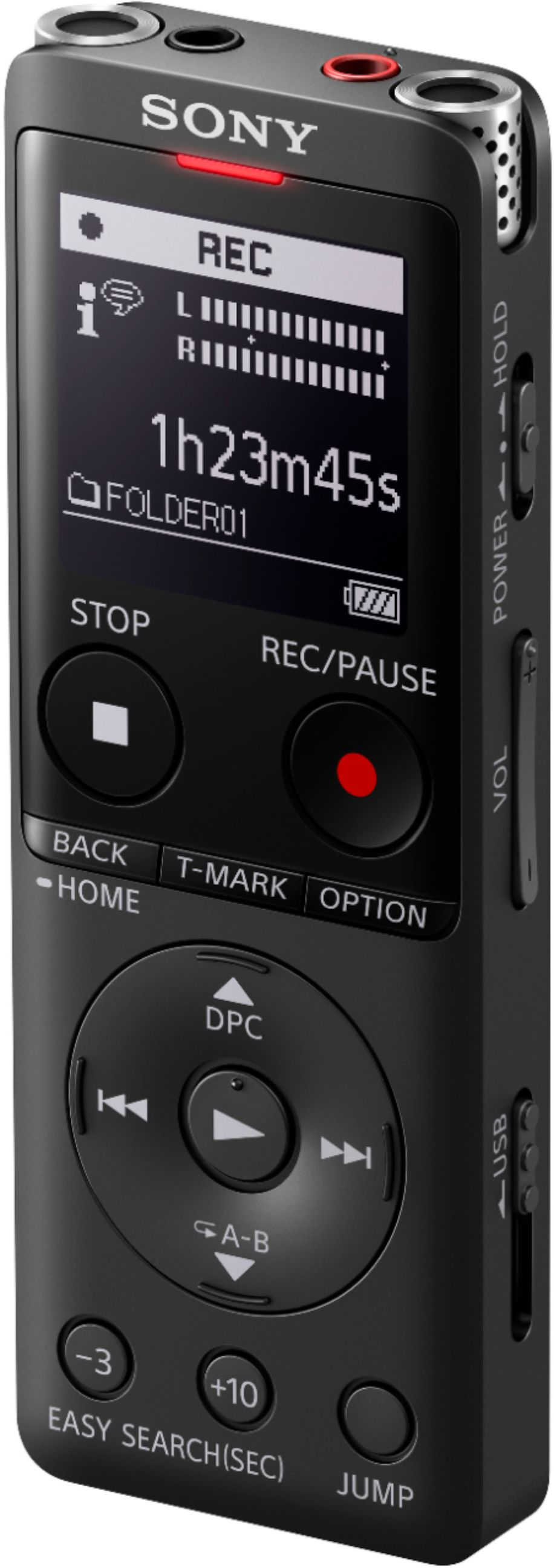 Sony UX Series Digital Voice Recorder Black ICDUX570BLK